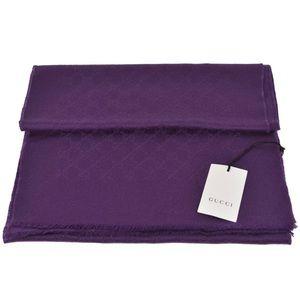 NWT Gucci Violet Purple Guccissima Cashmere Scarf